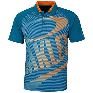 Oakley Mens Golo Polo, Petrol, Size S: Amazon.es: Ropa y accesorios