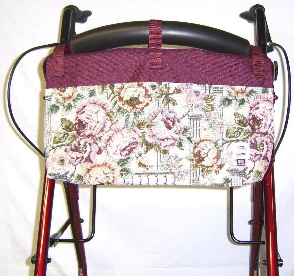 Handi Pockets 2c4ar Storage Accessory Walker, Tapestry, Antique Rose