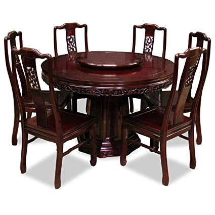 Delicieux China Furniture Online Rosewood Dining Table, 48 Inches Flower And Bird  Carving Design Round Dining