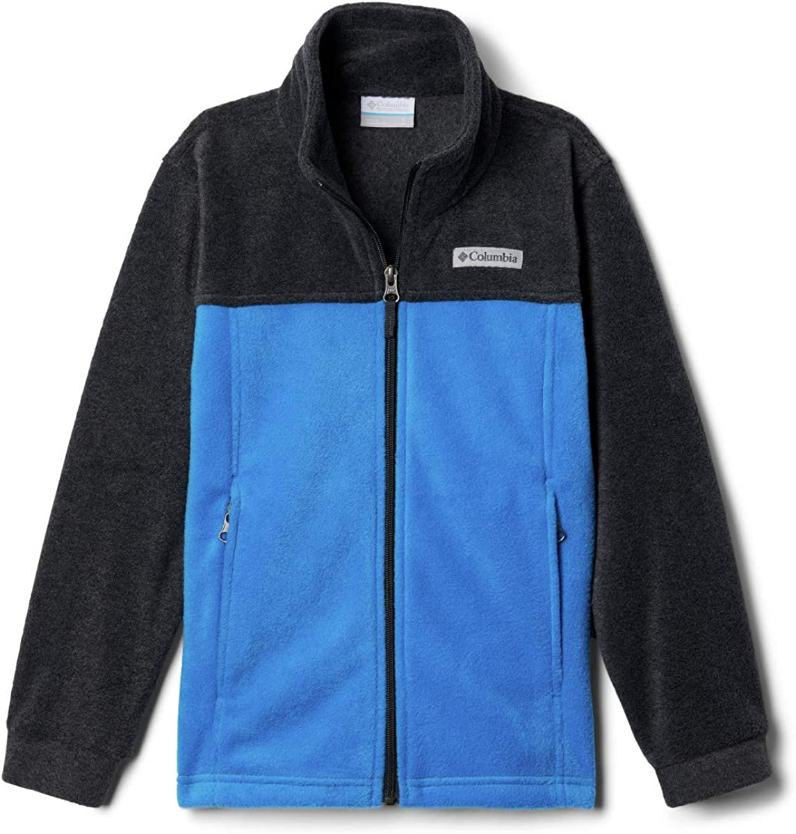 X-Large Azure Blue//Charcoal Heather Columbia Boys Big Steens Mt II Classic Fit Fleece Jacket