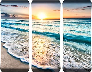 "product image for Next Innovations 19"" X 48"" Hd Curved Wall Art Cancun Sunset Home Decor"