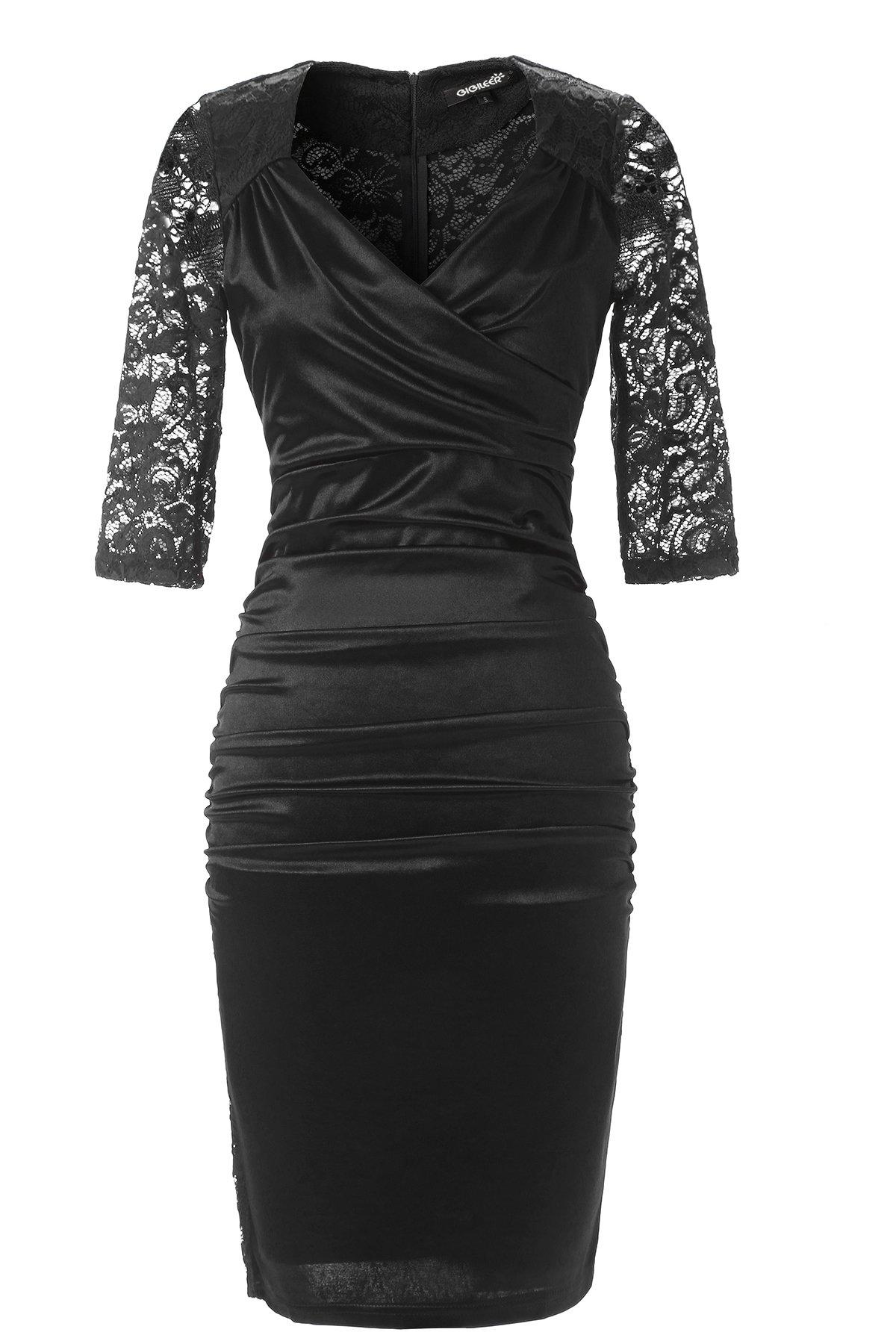 Schwarzes kleid mit schmetterlingen