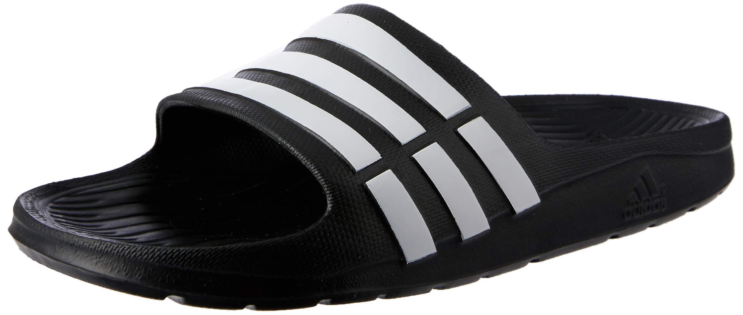 adidas Performance Kids' Duramo Slide Sandal (Toddler/Little Kid/Big Kid),Black/Running White/Black,1 M US Little Kid by adidas