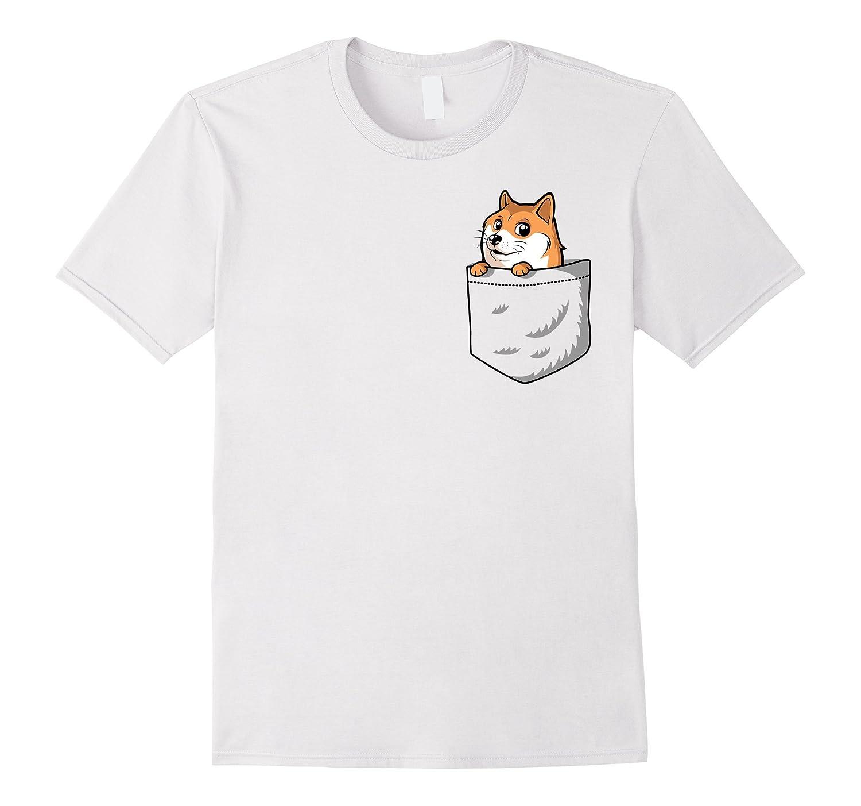 Pocket Doge T-Shirt | Doge Dog Meme Shirt-Art