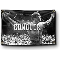 Banger - Arnold Schwarzenegger Conquer Motivational Inspirational Office Gym Wall Decor 3x5 Feet Flag Banner