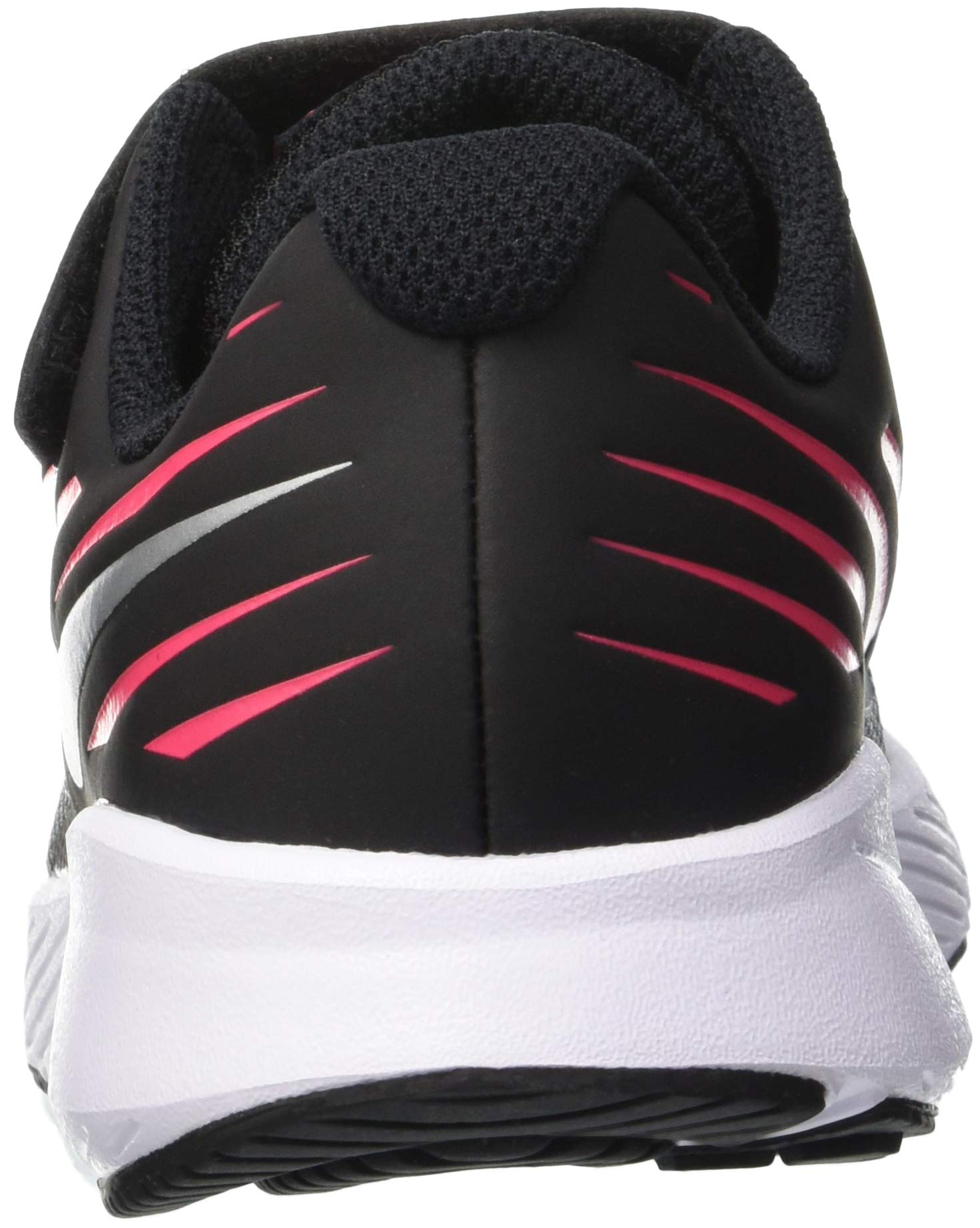 Nike Girl's Star Runner (PSV) Pre-School Shoe Black/Metallic Silver/Racer Pink/Volt Size 1.5 M US by Nike (Image #2)