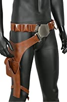 xcoser Solo Belt Cosplay Brown PU Leather Holster Costume Props Accessory
