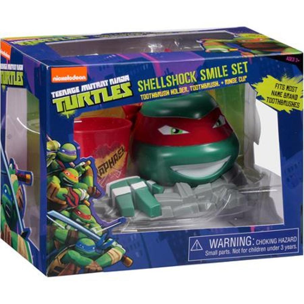 Nickelodeon Teenage Mutant Ninja Turtles Shellshock Smile Set, 3 pc ~ Raphael
