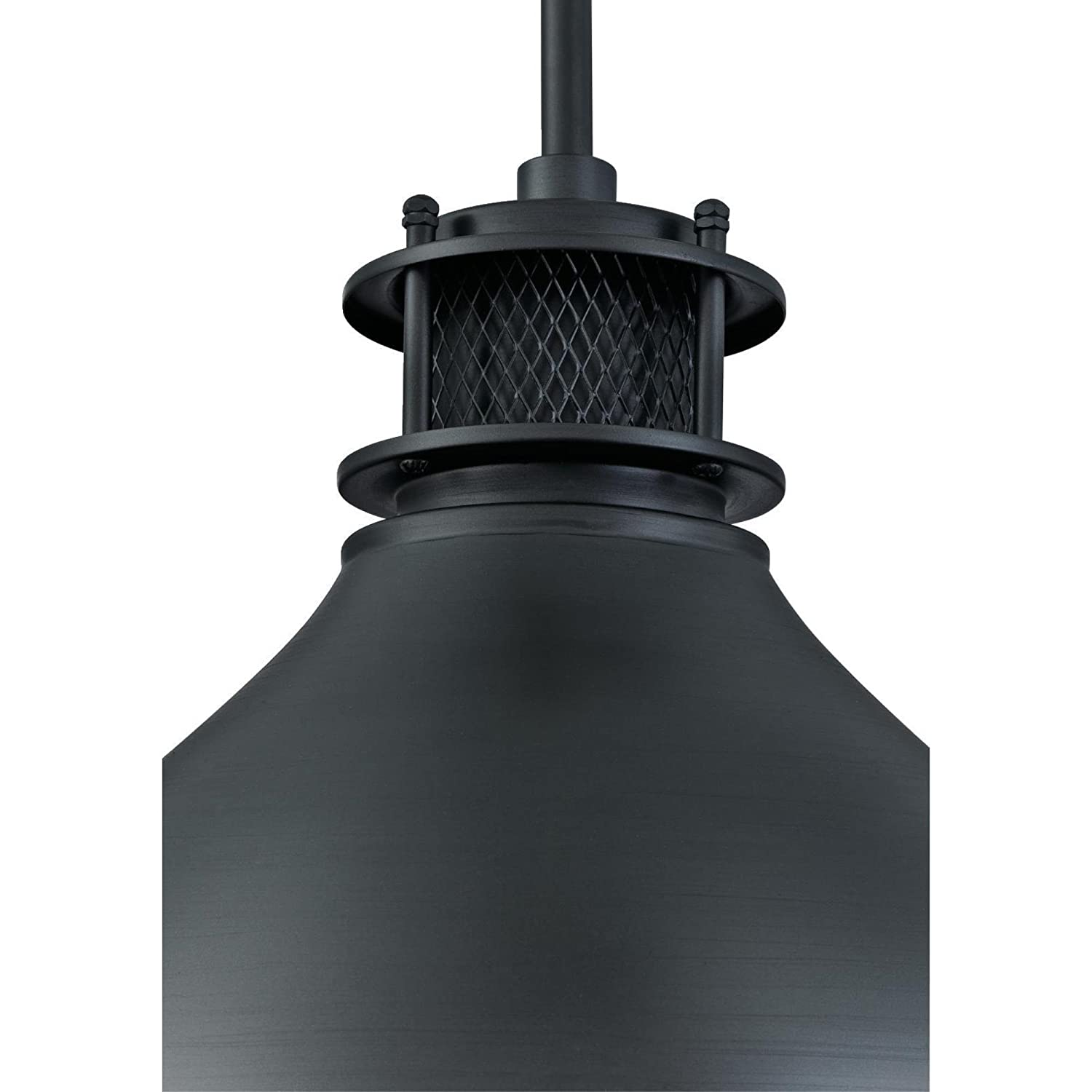 Westinghouse Lighting 6326800 One-Light Indoor Pendant, Matte Brushed Gun Metal Finish with Mesh Detail, Gunmetal