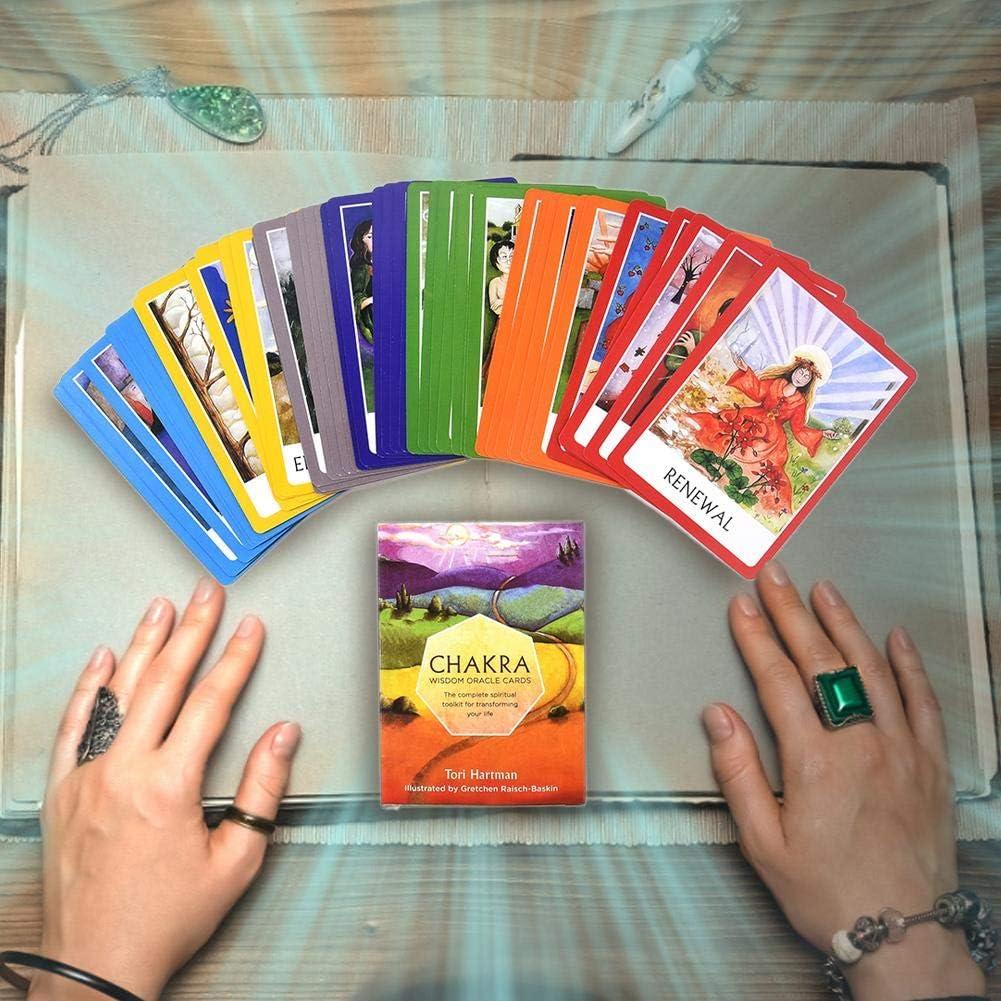 Carte da Gioco degli Amici per la Festa Carte dei Tarocchi Giochi di Carte per Bambini Carta da Gioco Carta dei Tarocchi Chakra Viaggi