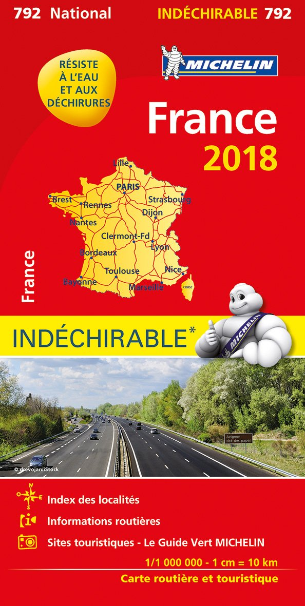 Carte France Indéchirable Michelin 2018 Carte – 1 janvier 2018 206722624X Karten / Stadtpläne / Europa Carte stradali-Europa GEOGRAFIA GENERALE. VIAGGI