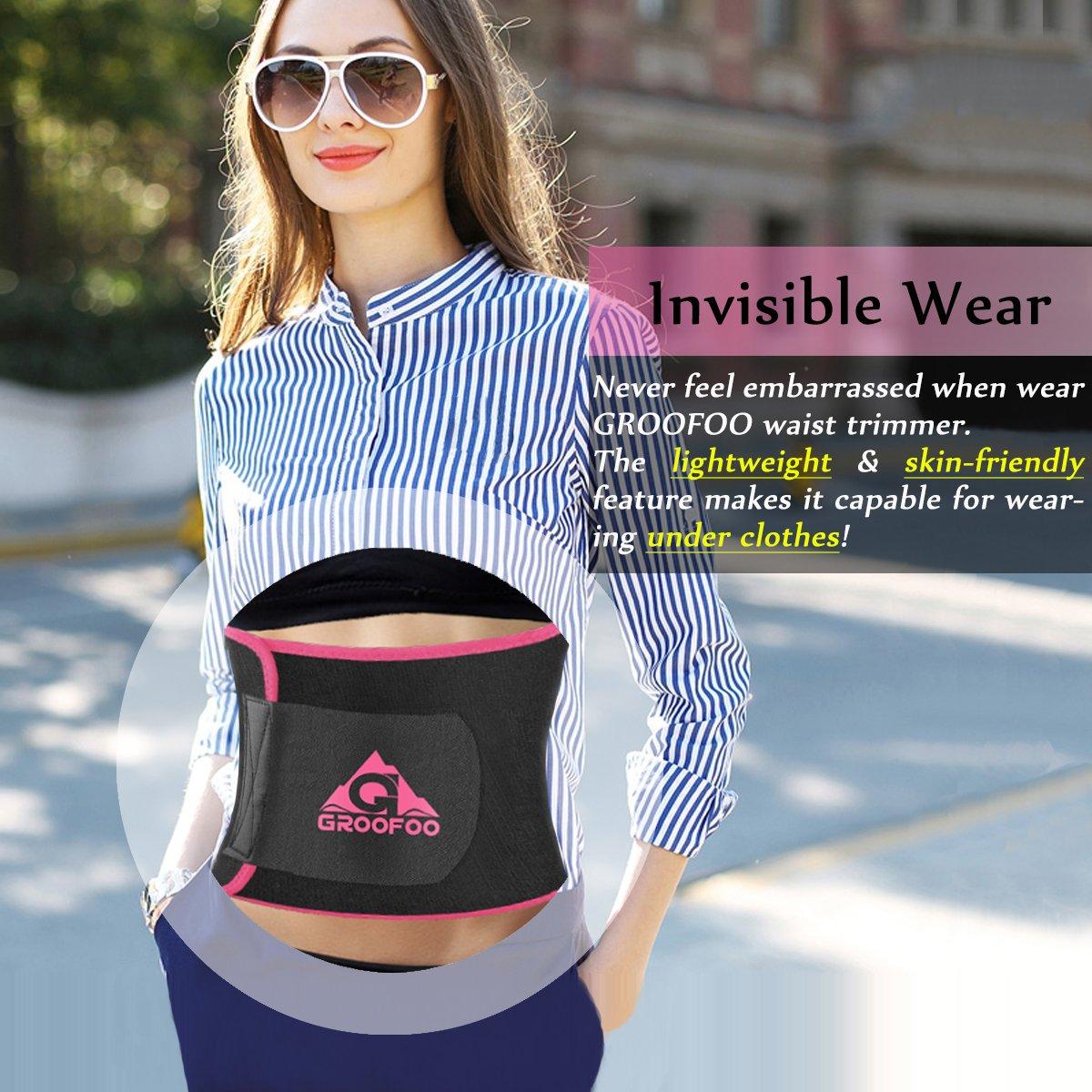 Cintura Dimagrante Regolabile,GROOFOO Fascia Addominale Dimagrante Snellente per Uomo e Donna,Cintura Per Dimagrire