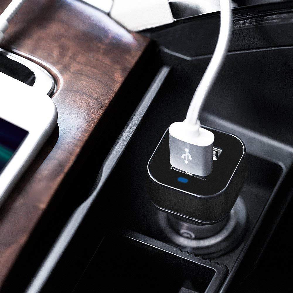 Cargador Portatil etc Tableta - Negro Adaptador Autom/óvil con Tecnolog/ía Qsmart para Samsung iVoler 24W // 4.8A Cargador de Coche USB Dual-Port Otros M/óviles