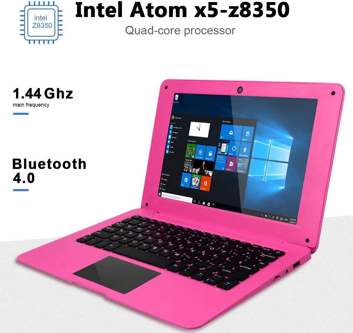 BT WiFi Blue Supports 128GB tf-Card Notebook Computer Intel Quad Core 1.44Ghz USB 3.0 2GB RAM 32GB Storage HSW 10.1 inch Windows 10 Ultra Thin Laptop PC HDMI