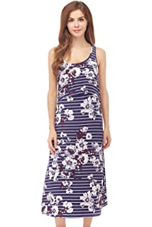 71f687db5ea Bearsland Women's Maternity Sleeveless Tank Dress Nursing Breastfeeding  Dresses