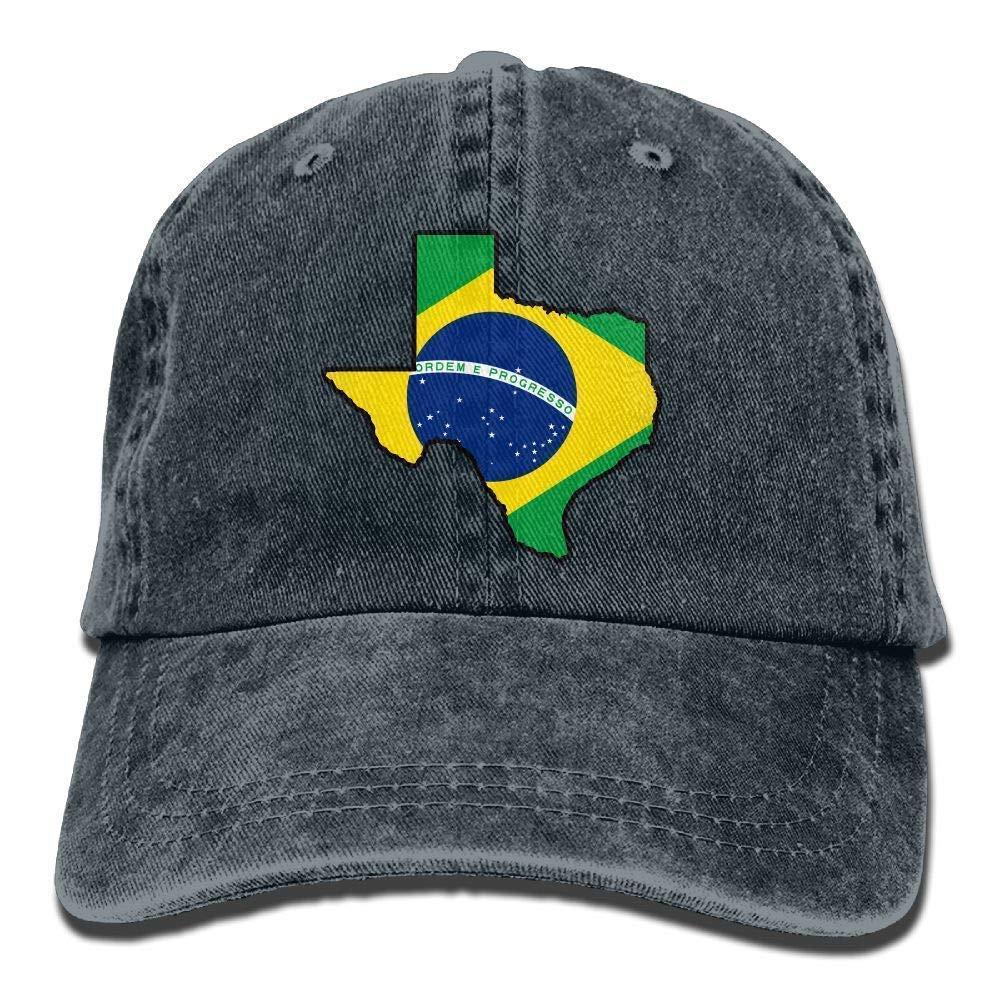 Brasil Bandera Texas Mapa Vintage Denim Gorra de b/éisbol Pap/á Sombrero Ajustable Unisex Unisex2