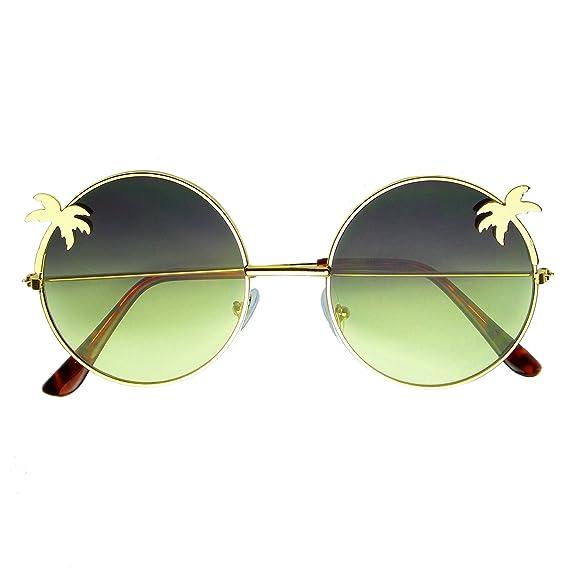 f496e79be1 Emblem Eyewear - Indie Palm Tree Gradient Lens Redondo Hippie Gafas De Sol  (Amarillo): Amazon.es: Ropa y accesorios