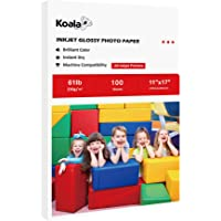 Koala Heavyweight Photo Paper High Glossy 11x17 Inches for Inkjet Printing 100 Sheets 61LB