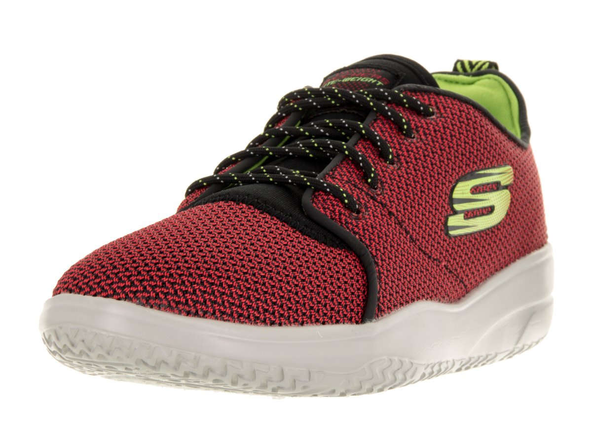 Skechers Boys' Isotope Sneaker,Red/Black,US 7 M