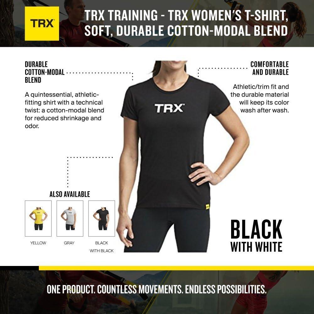 TRX Entrenamiento Camiseta Mujer, Mezcla de algodón y Modal ...