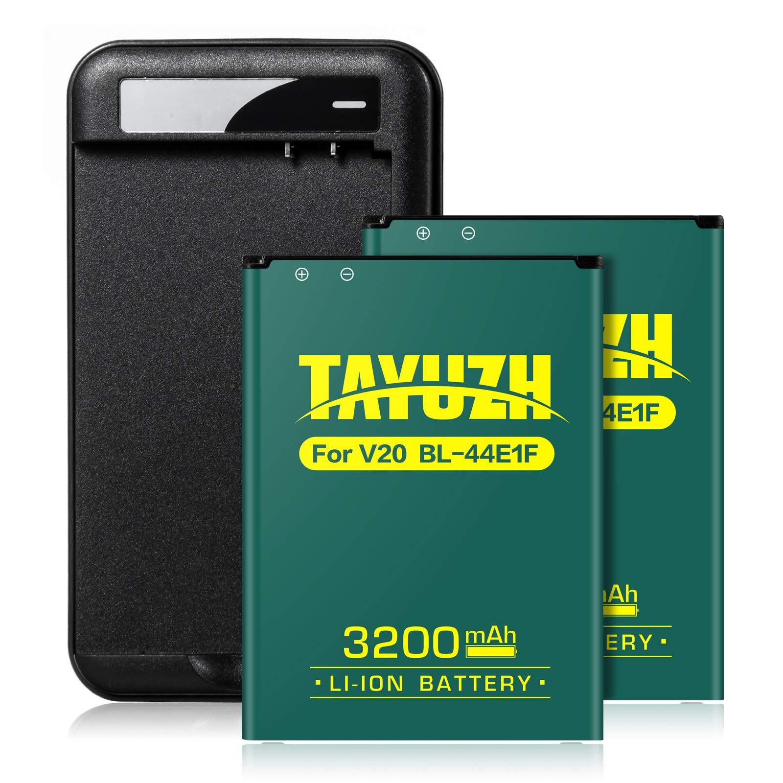 Bateria Celular TAYUZH LG V20 | 2X 3200mAh Li ion con Wall Charger para LG V20 BL 44E1F H910 H918 LS997 US996 VS995 | V2