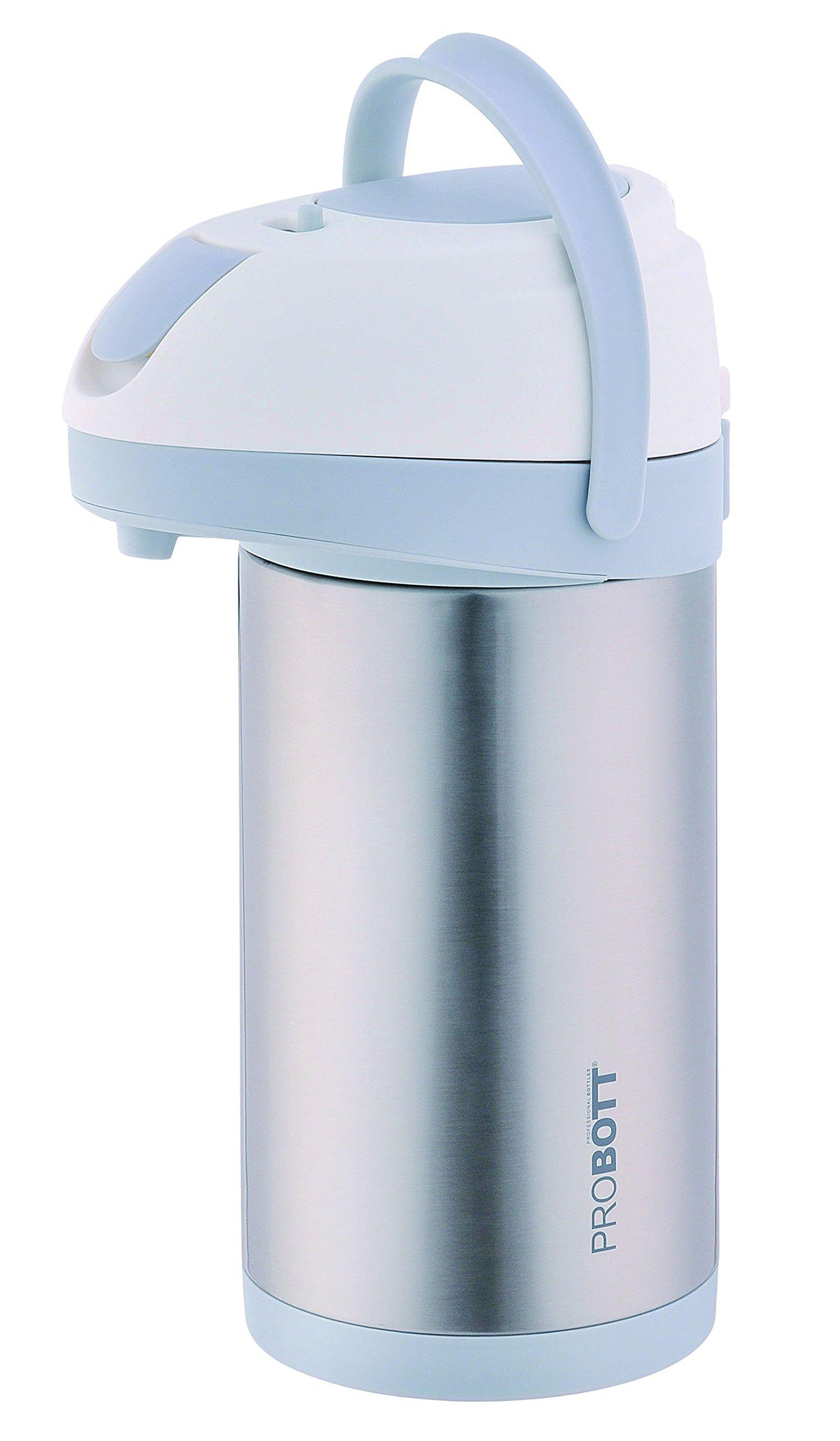 PROBOTT Stainless Steel Tea Coffee Airpot Vacuum Pump Flask With Lid 118 Oz