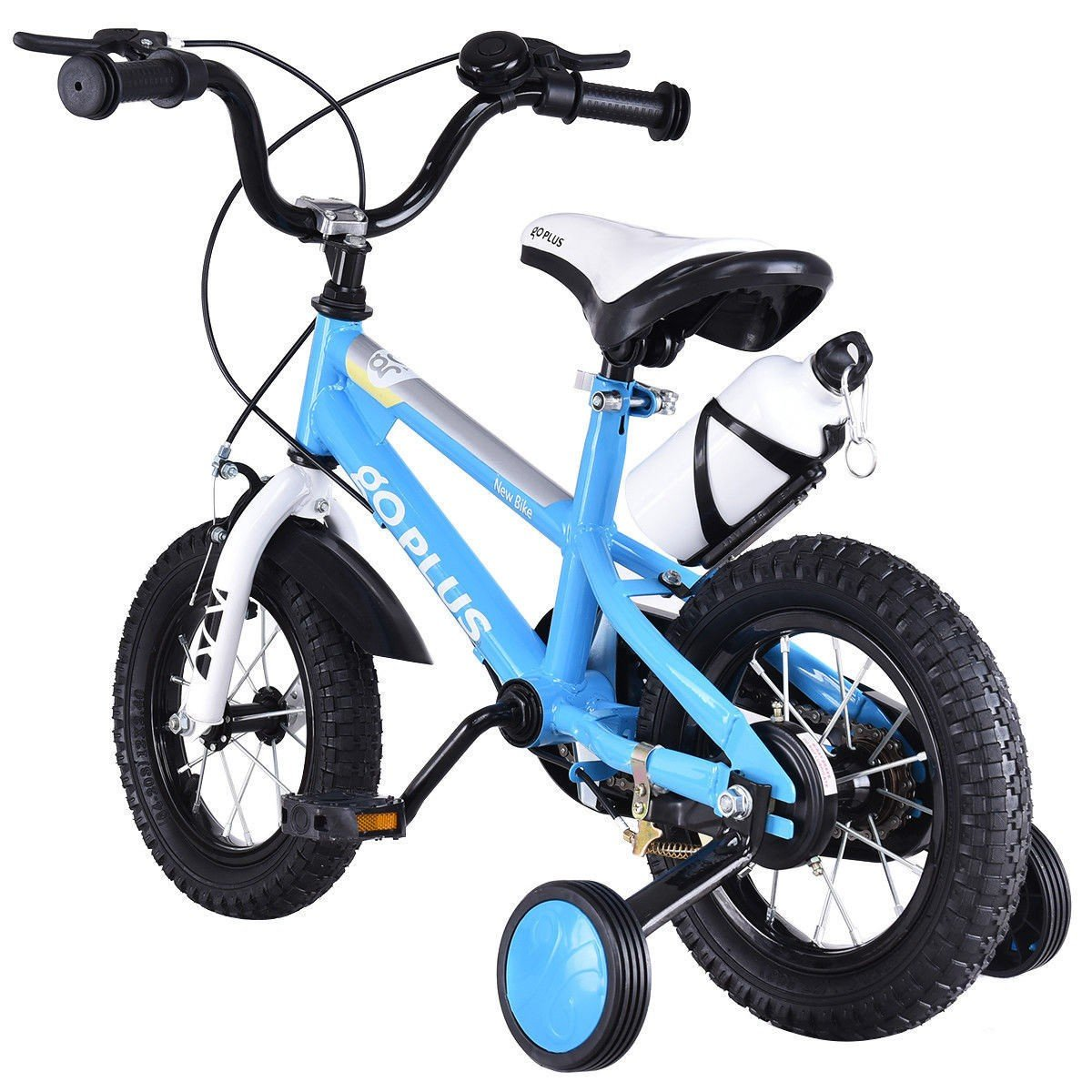 MD Group Kids Bicycle w/ Training Wheels Freestyle 16'' Blue Adjustable Children Xmas Gift by MD Group (Image #3)