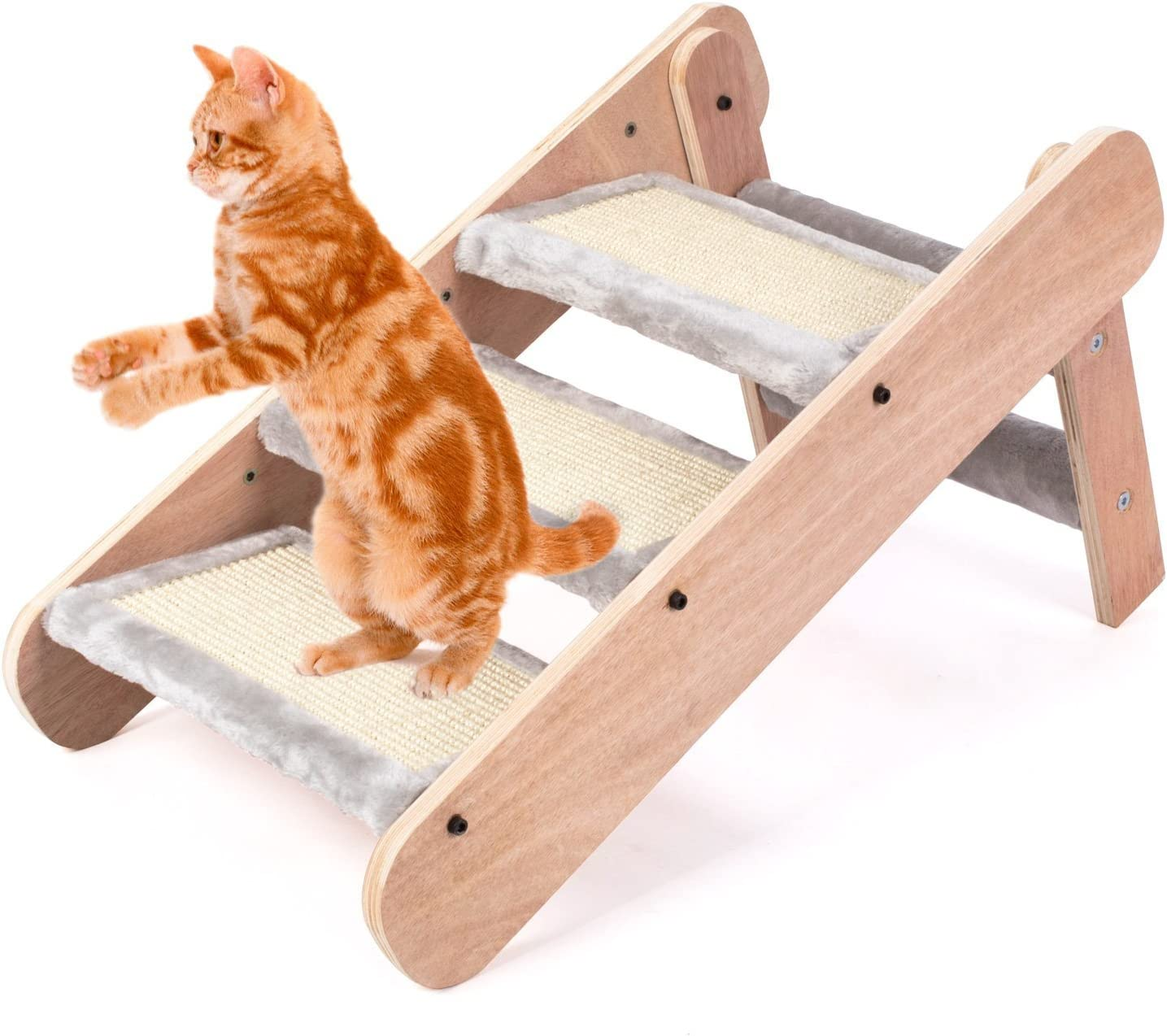 Pedy - Rascador para gatos con forma de escalera: Amazon.es: Productos para mascotas