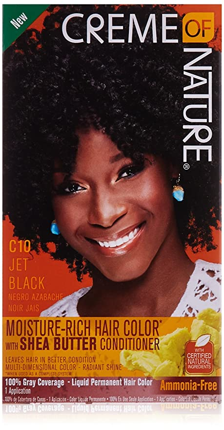 Creme of Nature Liquid Hair Color - #10 Jet Black by Creme of ...
