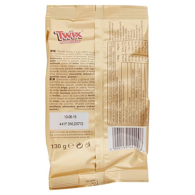 TWIX mini barritas chocolate con leche bolsa 130 gr: Amazon.es: Alimentación y bebidas