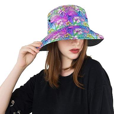 Stylish Floral Botanical Beautiful Flowers New Summer Unisex Cotton Fashion  Fishing Sun Bucket Hats for Kid f286e185f2