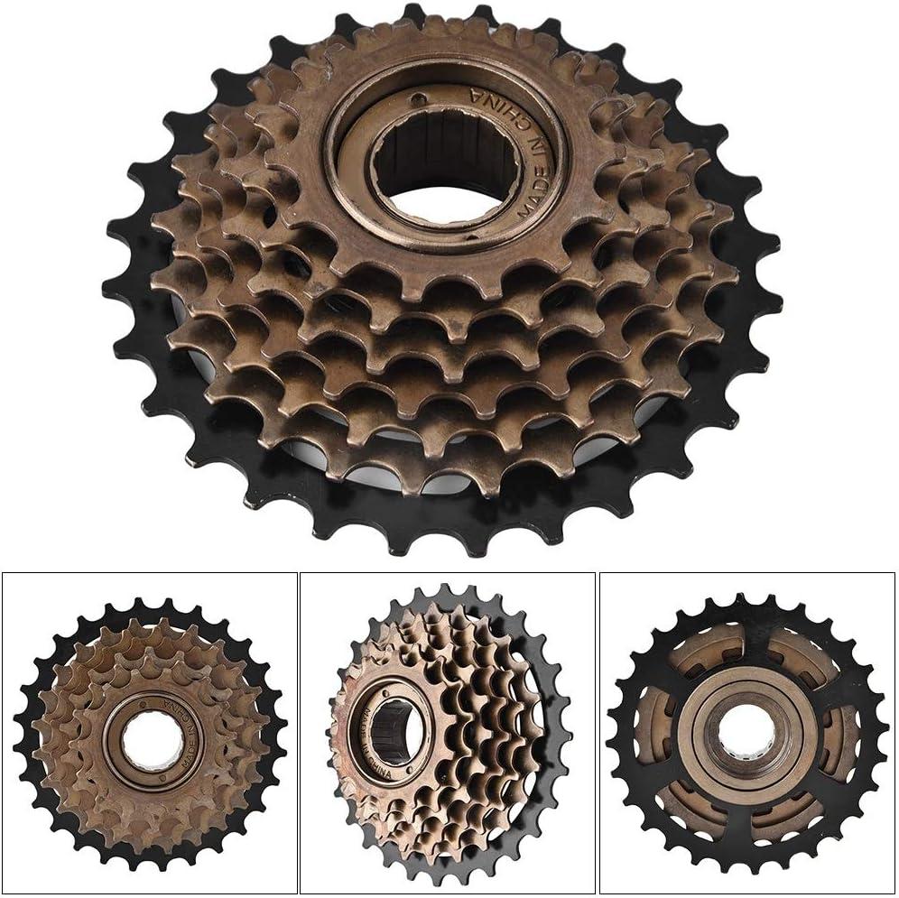 VIFERR Freewheel Bicycle Stainless Steel Freewheel Cassette Sprocket 7 Speed Mountain Bike Non-Deformation Replacement Accessory