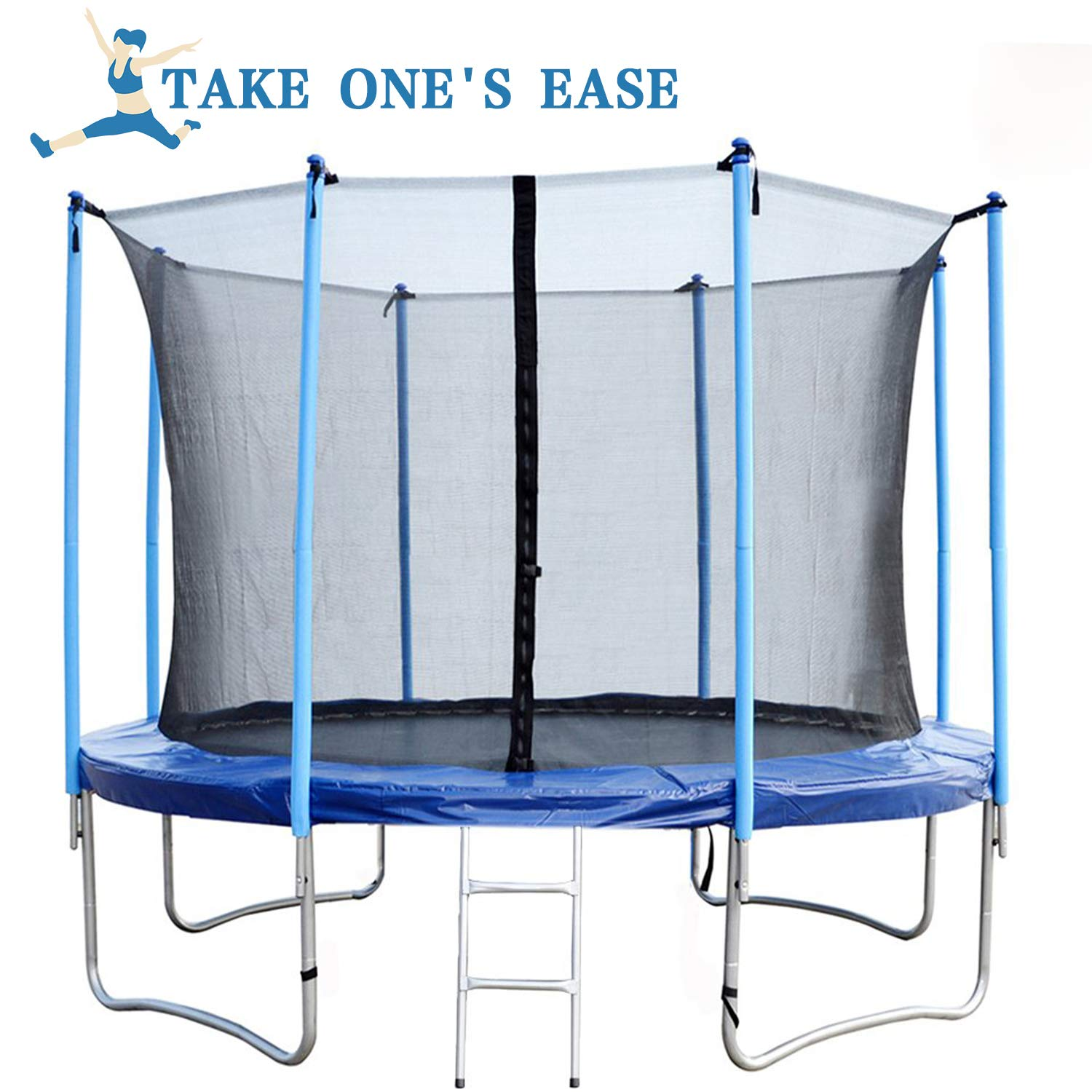BestMassage Trampoline for Kids Fitness Trampoline with Safety Enclosure Net Ladder Jumping Mat 10/12/14/ FT (14FT) by BestMassage