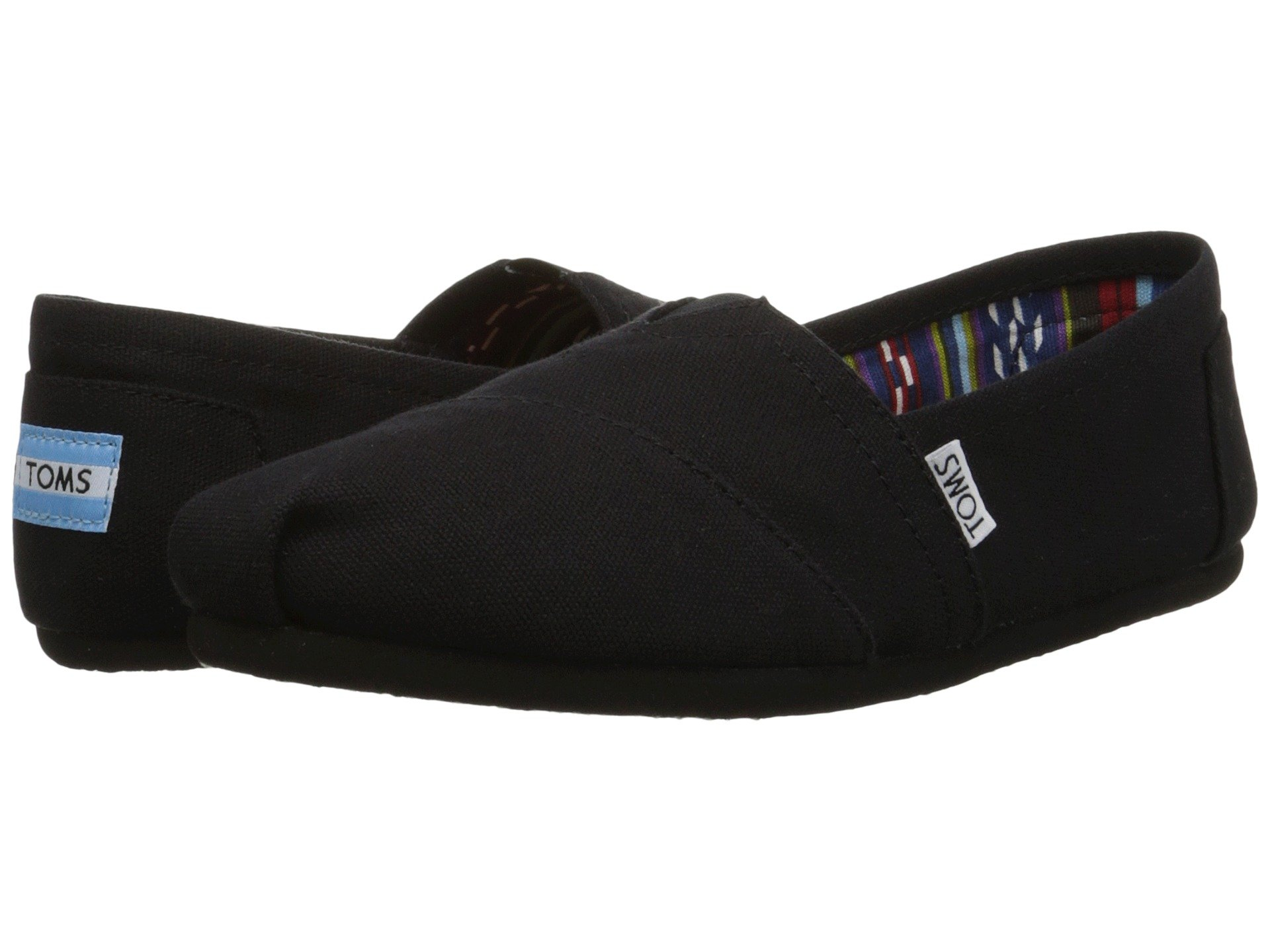 TOMS Women's Canvas Slip-On,Black Black,8.5 M by TOMS