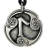Pewter Norse Viking Laguz Laukaz Rune of Intuition Pendant