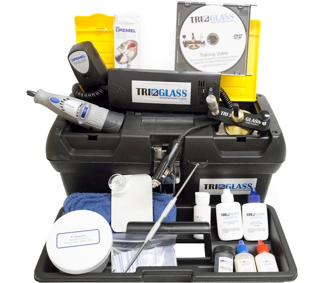 Tri Glass Quality Windshield Repair Kits (Tri Glass TRI 15 Essential Windshield Repair Kit)
