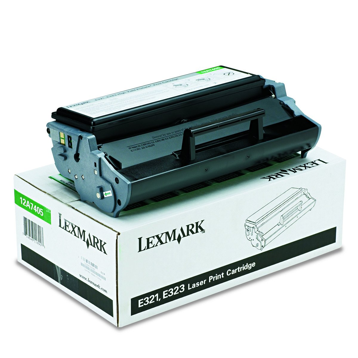 Lexmark 12A7405 High-Yield Toner, 6000 Page-Yield, Black by Lexmark (Image #1)