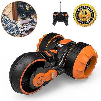 Amazon.com: RC Stunt coche, control remoto por radio coche ...