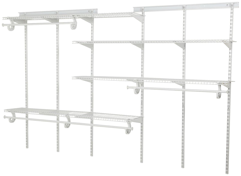 Amazon.com: ClosetMaid 289021 ShelfTrack 5 To 8 Foot Closet Organizer,  White: Home U0026 Kitchen