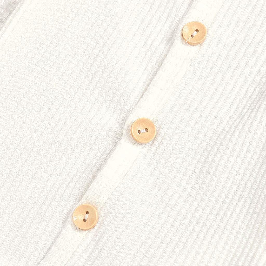 Sameno Newborn Infant Baby Button Top Organic Cotton Romper Pants Pajamas Set Sleepwear Outfit Long Sleeve Clothes 0-2 T