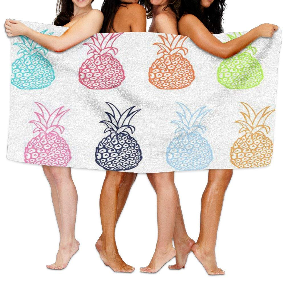 Gemao Beach Towel Watermelon and Pineapple Personalized Microfiber Absorbent Solid Body Towel