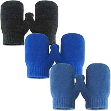 3 pairs Winter Mittens//gloves Children