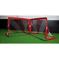 POWERSHOT Fußballtor POP UP - 2 Größen zur Auswahl - 2er Set - faltbares Garten Fußballtor für Kinder in ROT/WEIß