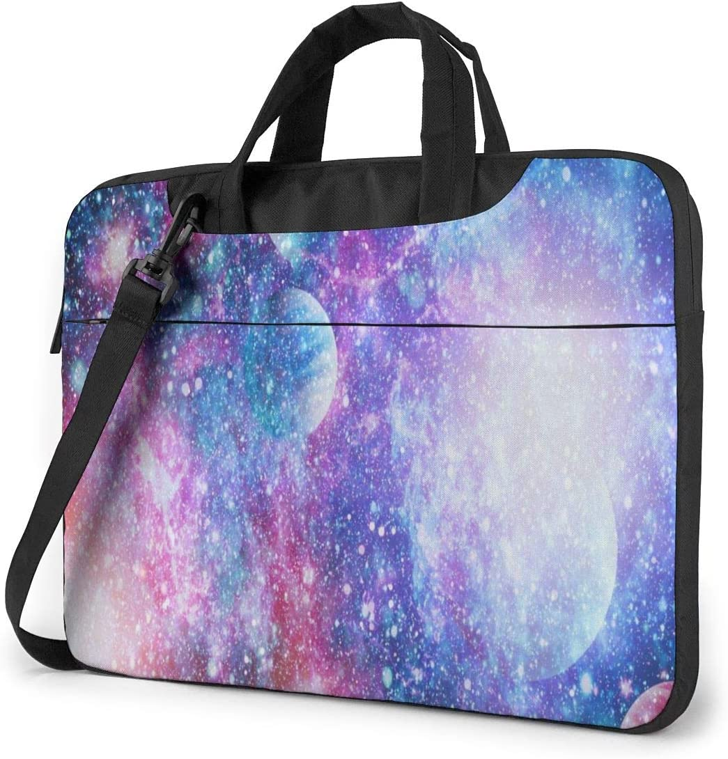 Stars of Planet Galaxy Laptop Case 14 Inch Carrying Case with Strap