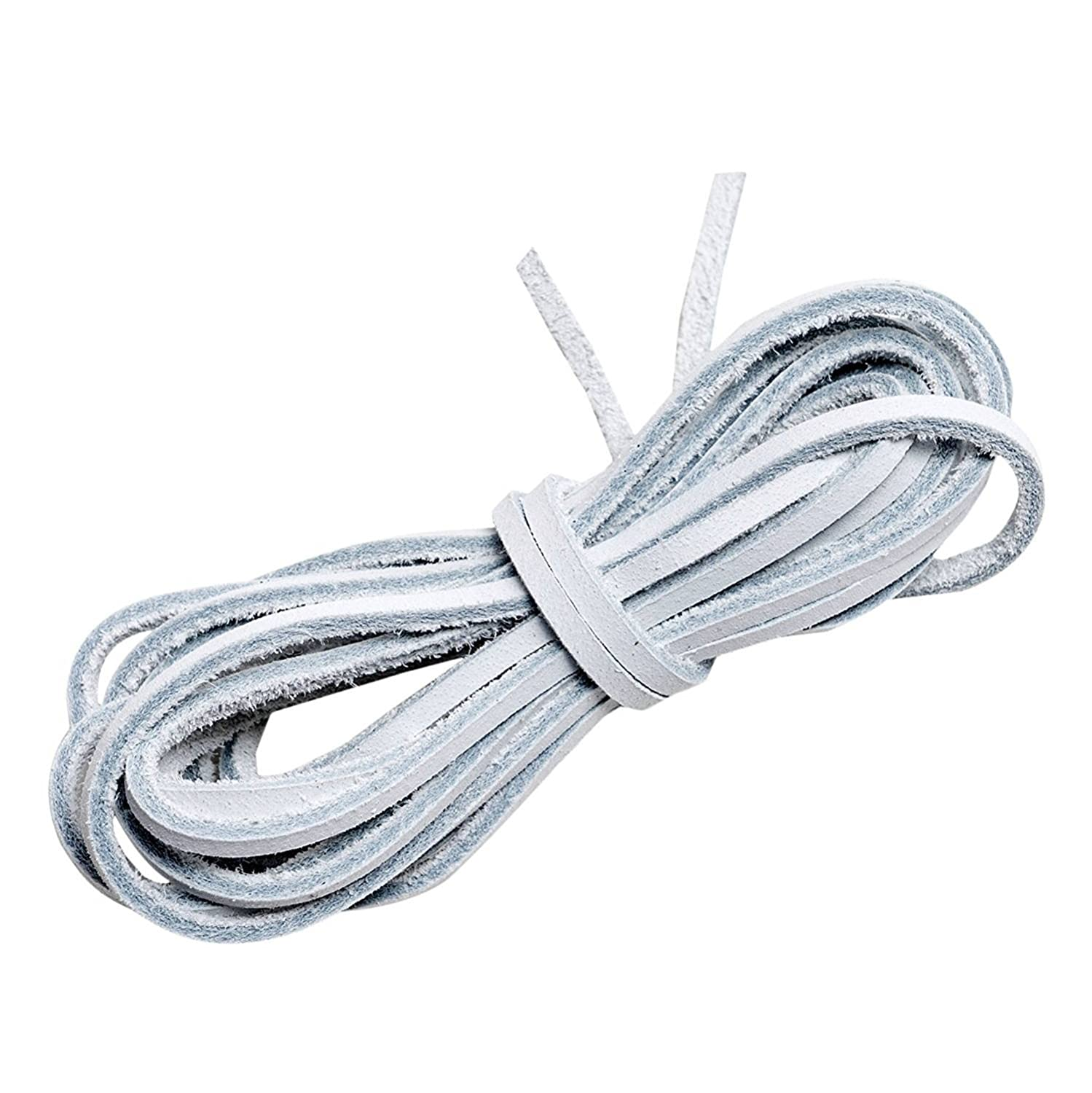 caf5a1047fde Lify Unisex White Leather Shoe Laces (80 cm)  Buy Online at Low Prices in  India - Amazon.in