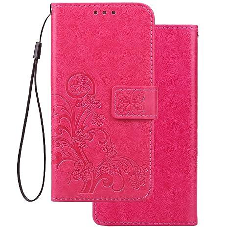LEMORRY Funda para Huawei P20 Pro Estuches Cuero Cover Billetera Piel Protector Magnética Cierre TPU Silicona con Tarjetas Carcasa Tapa para Huawei ...