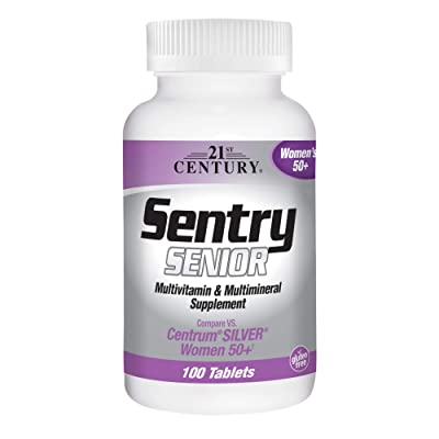 21st Century Sentry Senior Women 50 Plus Tablets, 100 Count