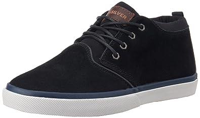 Quiksilver Men's Griffin Suede Skate Shoe, Black/Blue/White, ...