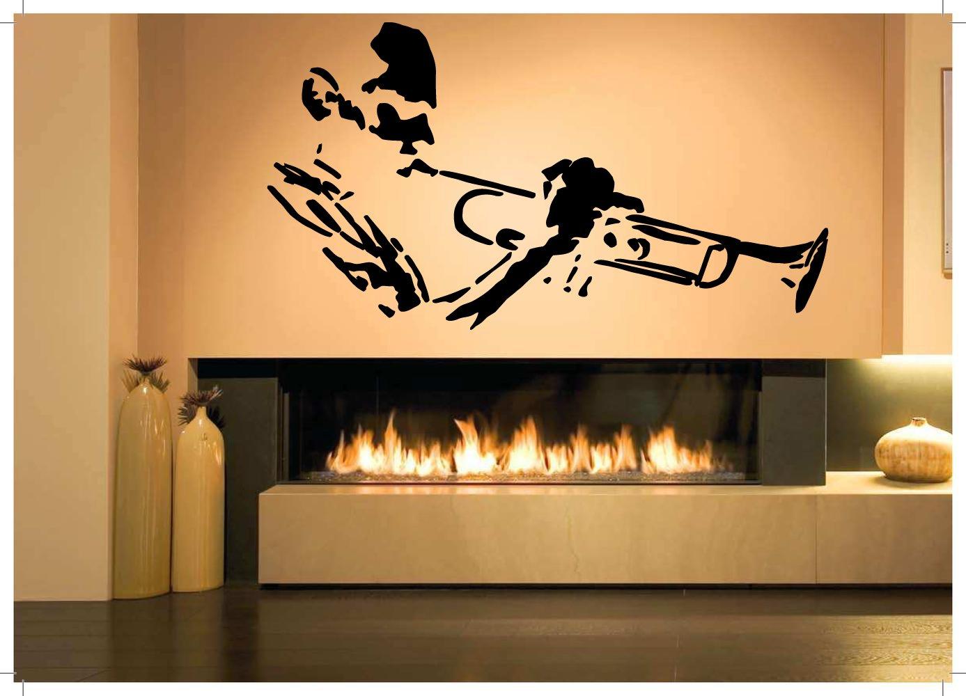 Amazon.com: Wall Room Decor Art Vinyl Decal Sticker Trombone Trumpet ...