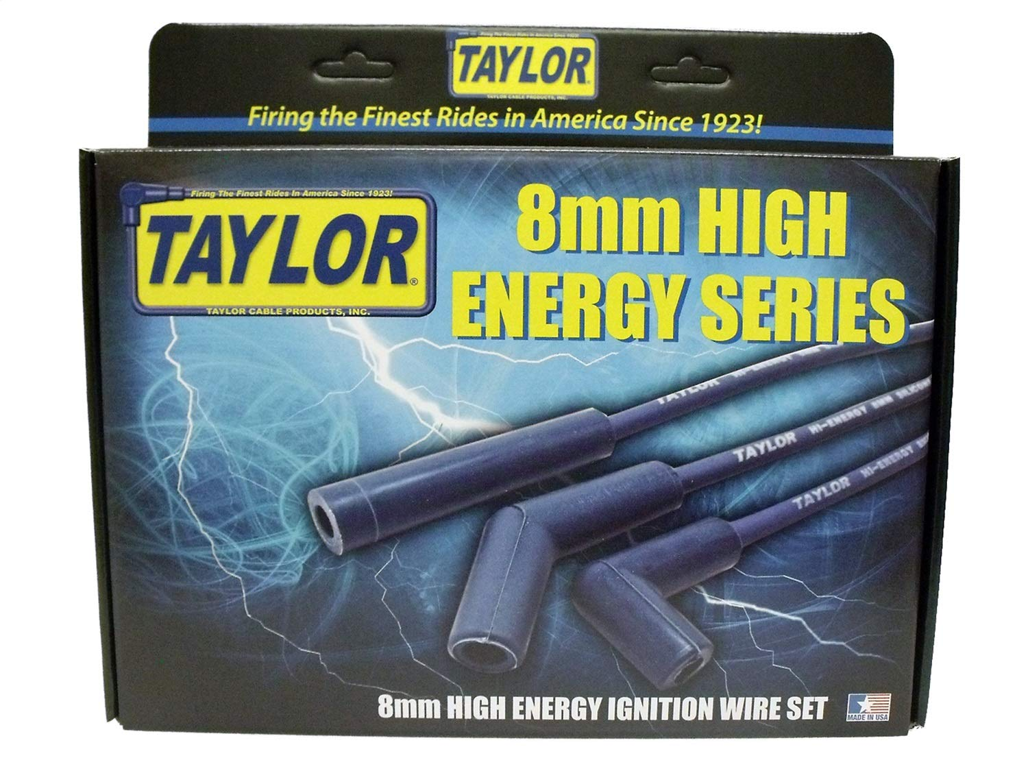 Taylor Cable 64603 Blue 8mm High Energy Spark Plug Custom Wire Set